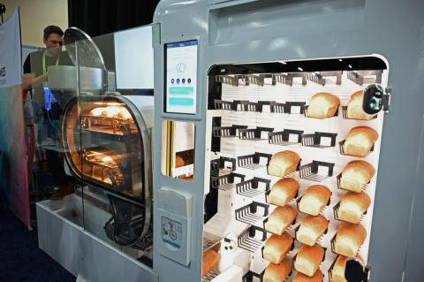 The Bread Bot is a fully automated bread-making machine that can turn out a loaf of bread every six minutes.