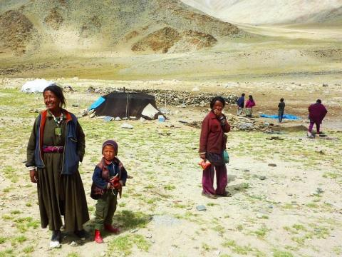 Nómadas en Chatang, Tíbet.
