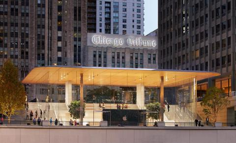 "In Chicago, Apple is beginning to dive into what it calls ""a new generation"" of its retail locations."