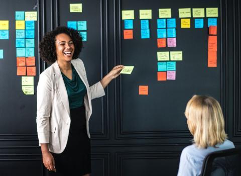 Coach- reunión- startup