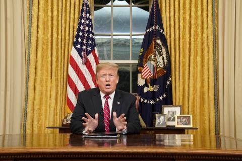 Donald Trump en el Despacho Oval de la Casa Blanca.