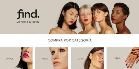 Find también cuenta con una línea de maquillaje de productos básicos