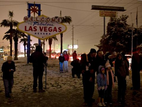 On the flip side, while highly unusual, Vegas has also been known to experience snowstorms, which has the potential to derail your vacation plans.