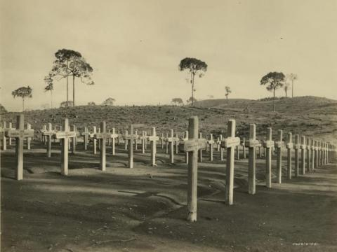 A Fordlandia cemetery was built (and still exists) ...
