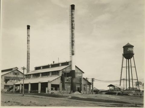 Fordlandia was officially founded then, and a sawmill and a water tower were erected. The latter bore the familiar Ford Motor logo.