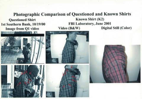 foto comparación prueba fbi