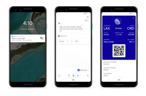 Google Assistant Vuelos