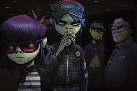 El grupo virtual de rock alternativo Gorillaz