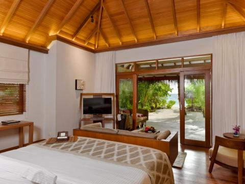 Guests can choose from several different types of villas, starting with one of the 24 Deluxe Villas, which offer 958 square feet of living space ...