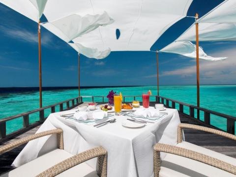 Guests can enjoy a leisurely gourmet meal at the Piano Deck prepared by a private chef.