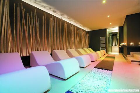 """La conocida como """"Habitación de la Relajación"""" es una característica única del spa del hotel."""