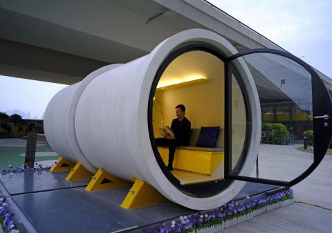 James Law, a Hong Kong architect, had the idea to build microapartments inside giant concrete drainage pipes.