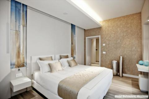 """Of the hotel's 39 guest rooms, many travelers choose to stay in the Belvedere's """"Glamour Junior Suites."""""""