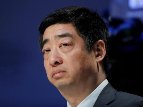 Ken Hu, presidente rotativo de Huawei, en el Foro Económico Mundial de Davos