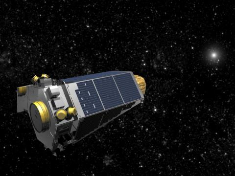 An illustration of NASA's Kepler space telescope.