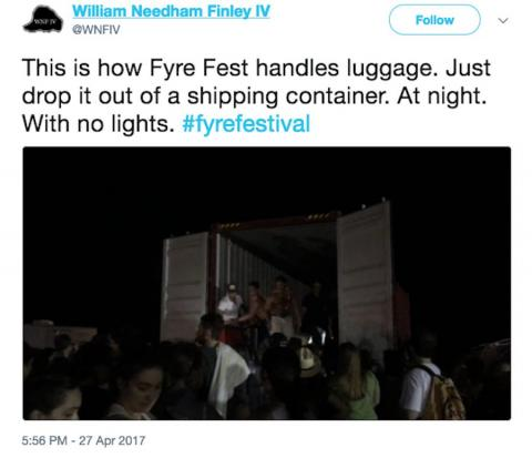 Instead, they ended up waiting for hours at the airport and collecting their luggage from the back of a shipping container in the dead of night.