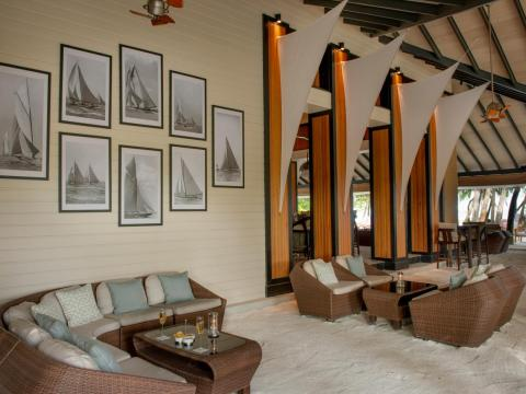 Its lounge area blurs the line between beach and bar.