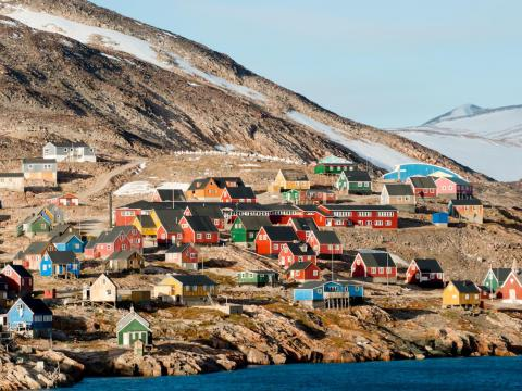 Ittoqqortoormiit, Greenland, is a great place to see the Northern Lights.