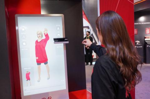 JD.com shows off an augmented reality system which lets customers virtually try on clothing.