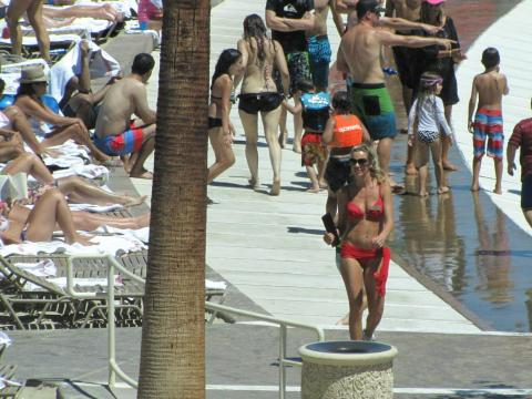 Just like photo-op locations, resort pools can be highly crowded.