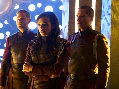Aaron Ashmore, Hannah John-Kamen, and Luke Macfarlane star on the series,