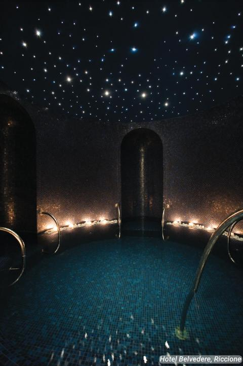 """The """"Kneipp Pool & Dead Sea Salt Bath"""" are arguably two of the hotel's most stunning features."""