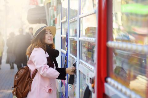 Máquina de vending en la calle