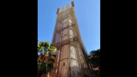 Torre de viento en Masdar City.