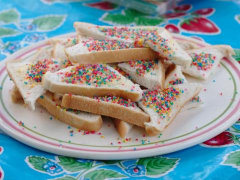 "Monique McDonald McCullough, an Australian-born-and-raised blogger, writes that fairy bread is ""the quintessential birthday party food item"" in Australia."