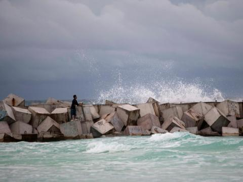 Natural disasters have also taken their toll on Cancún's beaches.