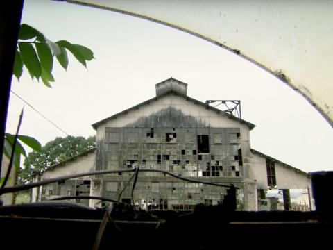 Now, 80 years later, a deteriorated factory building stands as a reminder of Fordlandia's failure.