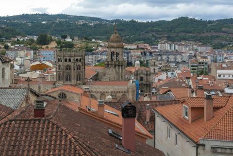 Una vista de la ciudad de Ourense.
