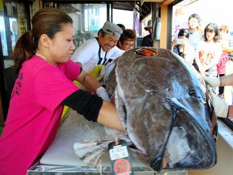 People in Aomori have the chance to eat the outrageously expensive bluefin tuna at the annual Oma Super Tuna Festival in October.