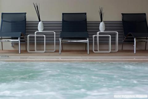 """Rather than including a regular hot tub, the Belvedere's spa is home to a """"Salt Jacuzzi Bath."""""""