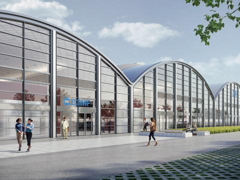 Recreación artística del nuevo centro de datos de Bolonia.