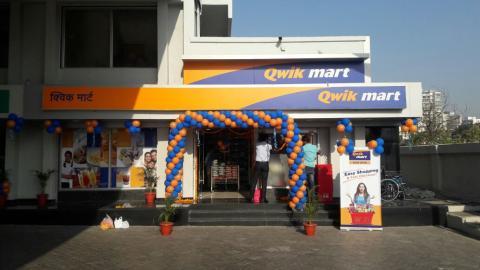 Una tienda Quick Mart del grupo Reliance en Vadodara (India)