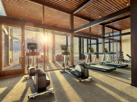 The resort has a gym, but if that's not enough, a yoga and meditation guru is also on site.