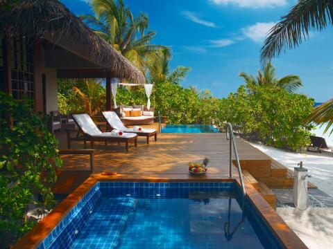 The resort offers different types of ultra-luxurious villas ...
