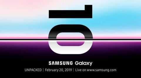 Invitación Unpacked Samsung Galaxy S10