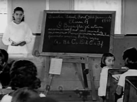 The school was the first time many of the indigenous people had access to education.