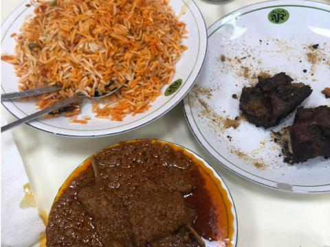 She was born and raised in Delhi, where she highly recommends popping over to Chandni Chowk shopping area for some street food — which can include plates of biryani, mutton korma, and burrah kebab all pictured here.