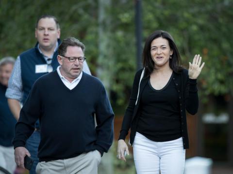Sheryl Sandberg y Bobby Kotick