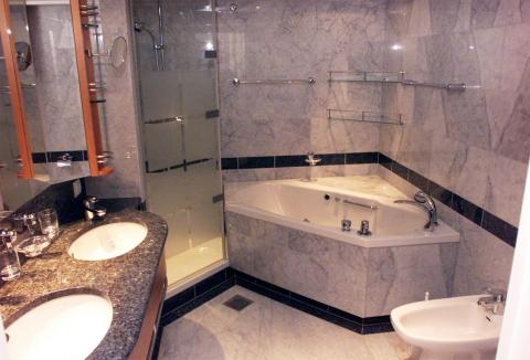 Some cruise ships have bathrooms that are on par with those of a luxury hotel.