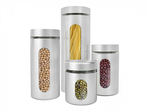Steel containers for pantry staples