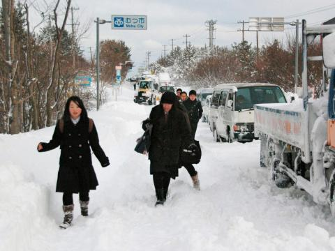 Streets in the surrounding area have even gotten so snowy during storms that people were forced to leave their cars on the highway.