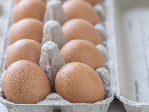 Whole eggs might burst when frozen.