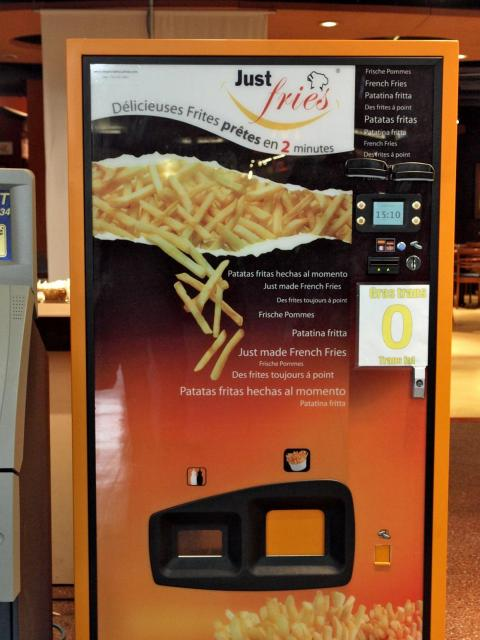 There are a lot of variations of the French fry vending machine.