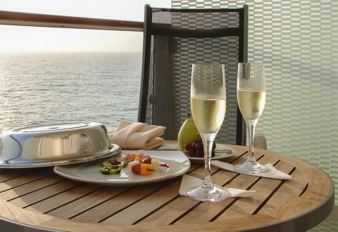 There's no shortage of alcohol on cruise ships, from glasses of wine to fruity cocktails.