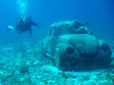There's an underwater museum in Cancún, Mexico.