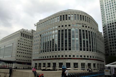 Oficinas centrales de Thomson Reuters en Londres, Reino Unido